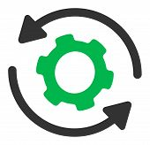 Infinite Rotation Vector Icon. Flat Infinite Rotation Pictogram Is Isolated On A White Background. poster