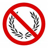 No Glory Vector Icon. Flat No Glory Pictogram Is Isolated On A White Background. poster