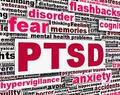 stock photo of aroused  - PTSD message conceptual design - JPG