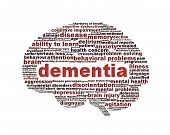 stock photo of insane  - Dementia symbol conceptual design isolated on white background - JPG