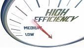 High Efficiency Increase Efficient Level Rating Speedometer 3d Illustration poster