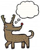 picture of rudolf  - cartoon reindeer - JPG