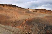 Geothermal region of Hverir in Iceland near Myvatn Lake, Iceland, Europe poster