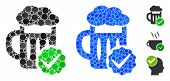Best Beer Composition Of Round Dots In Different Sizes And Shades, Based On Best Beer Icon. Vector R poster