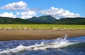 stock photo of sakhalin  - The Seeshore hills and sky - JPG