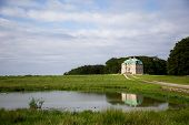 The Hermitage, A Royal Hunting Lodge In Klampenborg Of Denmark. Dyrehaven Is A Forest Park North Of poster