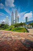 picture of petronas twin towers  - Picture of Pertonas Twin Tower in Kuala Lumpur Malaysia - JPG