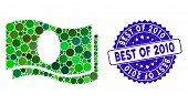 Mosaic Banknotes Icon And Rubber Stamp Seal With Best Of 2010 Caption. Mosaic Vector Is Composed Wit poster