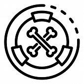 Hazard Radiation Icon. Outline Hazard Radiation Vector Icon For Web Design Isolated On White Backgro poster