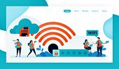 Landing Page And Website For Wifi Connection And Protection, Internet Access With Wifi, Wifi Firewal poster