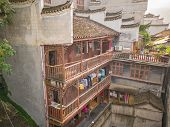 Chinese Vintage House In Fenghuang Old Town.phoenix Ancient Town Or Fenghuang County Is A County Of  poster