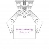 Industrial Robot Manipulator.mechanical Engineering Drawing .robotic Arm .computer Aided Design Syst poster