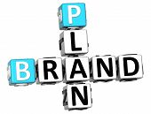 3D Brand Plan Crossword poster