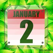 January 2 Icon. For Planning Important Day. Banner For Holidays And Special Days. Second Of January. poster