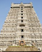 stock photo of hindu temple  - This is the great temple of lord Shiva built by Chola kings - JPG