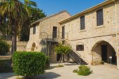 The Old Cyprus Casemates Building In Larnaca. View From The Courtyard. Travel And Sightseeing Concep poster