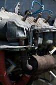 stock photo of cessna-172  - an engine from a Cessna 172 airplane
