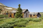 stock photo of colorado high country  - Main street in the ghost town of Summitville Colorado - JPG
