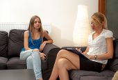 pic of hypnotizing  - A sexy female psycotherapist treats a teenage female patient with normal and cliche ways - JPG