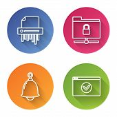 Set Line Paper Shredder Confidential, Ftp Folder And Lock , Ringing Bell And Secure Your Site With H poster