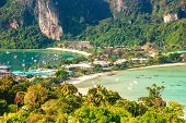 Phi Phi Island Amazing View Point, View On Tonsai Village. Koh Phi Phi Don, Viewpoint. Thailand. poster