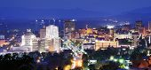 image of asheville  - asheville skyline at night - JPG