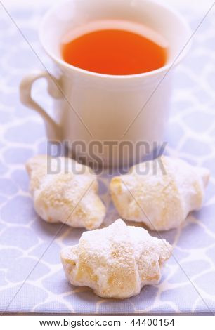 Shortbread cookies and a cup of tea