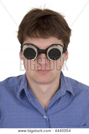 Man In Welding Goggles