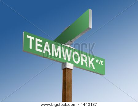 "Street Sign Reading ""teamwork"""