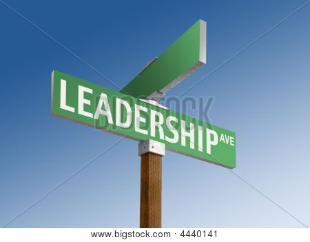 "Street Sign Reading ""leadership"""