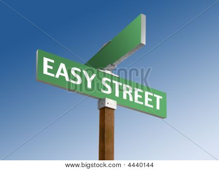 "Street Sign Reading ""easy Street"""