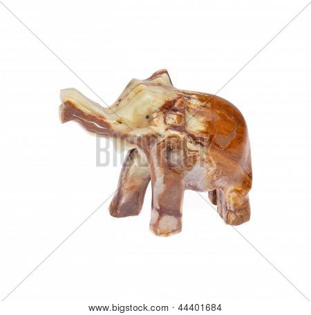 Figurine onyx elephants