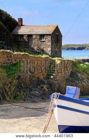 Mullion Cove Harbour, Cornish Fishing Port, Cornwall.