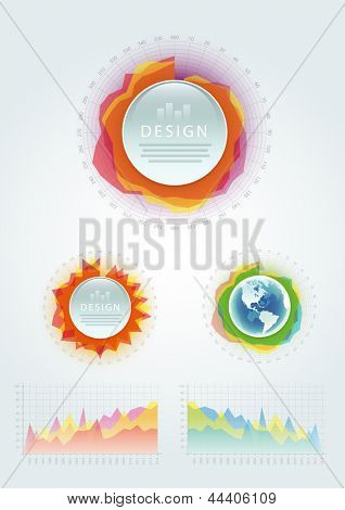 Vector infographics design elements. Elements are layered separately in vector file.