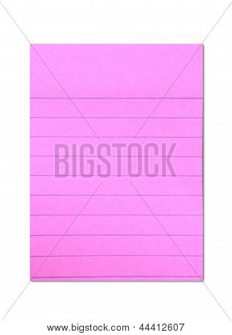 shocking pink colored post it paper