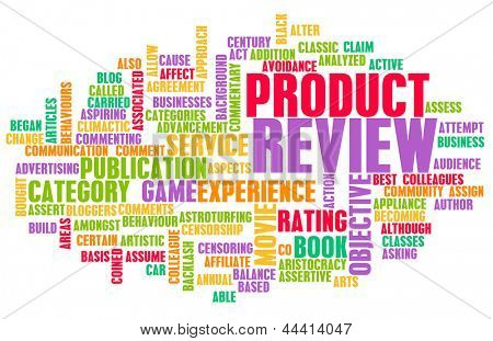 Product Review Word Cloud as a Concept
