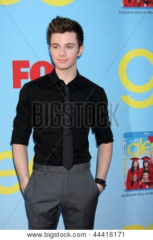 LOS ANGELES - SEP 12:  Chris Colfer arrives at the Glee 4th Season Premiere Screening at Paramount Theater on September 12, 2012 in Los Angeles, CA