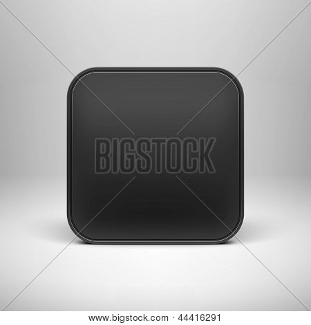 Technology Black Blank App Icon Template