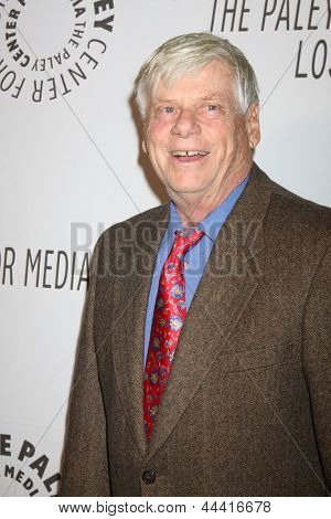 LOS ANGELES - OCT 22:  Robert Morse arrives at  the Paley Center for Media Annual Los Angeles Benefit at The Lot on October 22, 2012 in Los Angeles, CA
