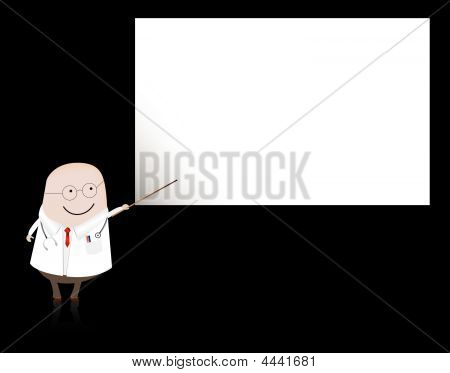 Doctor Pointing At Blank Board.