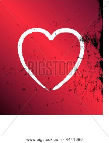 Heart Grunge Vector Red And Black.eps