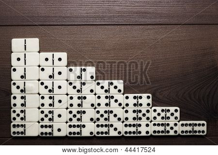 full set of domino pieces background