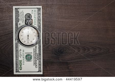 time and money concept background