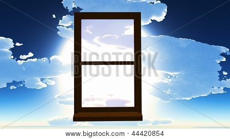 Window of opportunity  overlooking  dramatic sky