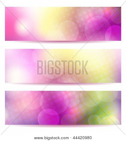 Abstract Pink Banner Set