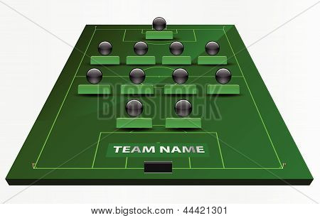 EPS Vector 10 - soccer field or football field