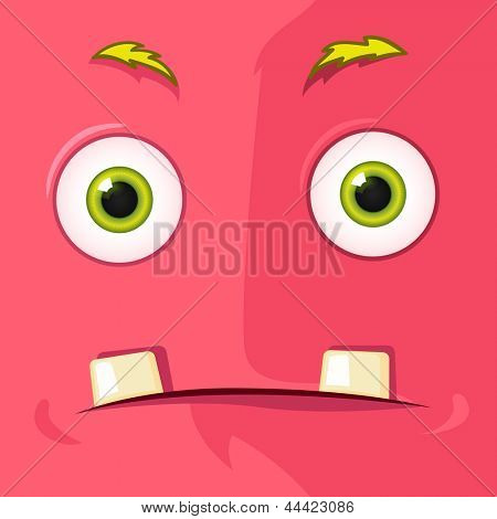 Cartoon Character Funny Monster. Vector EPS 10. Avatar.