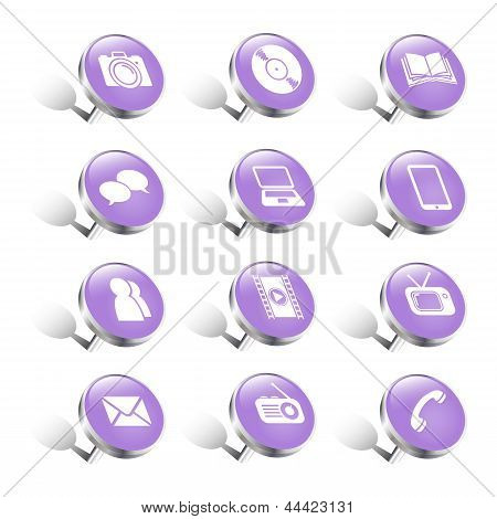 Pin Media/communication Icons