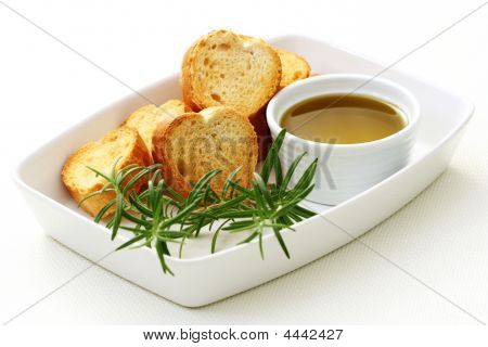 Baguette And Olive Oil