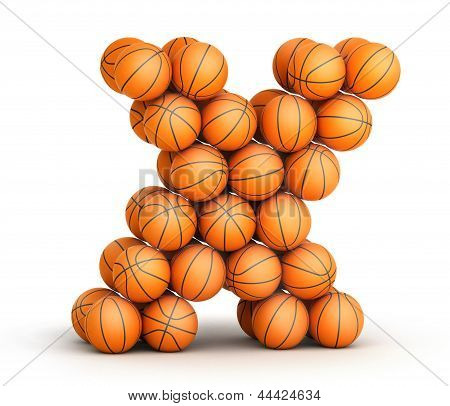 Letter  X  basketball